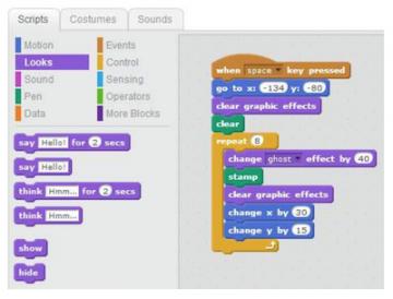 block based coding example