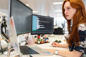 Lady coding